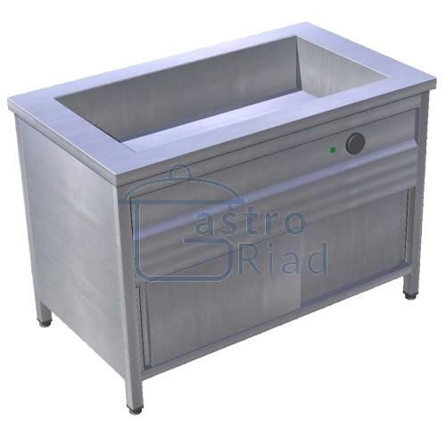 Zobraziť tovar: Pult ohrevný s režónom 4xGN1/1, zváraná vaňa, EOSK
