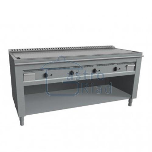 Zobraziť tovar: Platňa smažiaca plyn. hladká nerez, 2000/720, TEP-4/200G