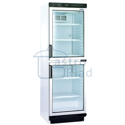 Zobraziť tovar: Chladnička biela presklená ventilovaná  dvojdverová 372 l, FS-2380