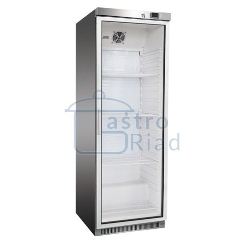 Zobraziť tovar: Chladnička nerezová presklená ventilovaná 350 l, DR-400GS