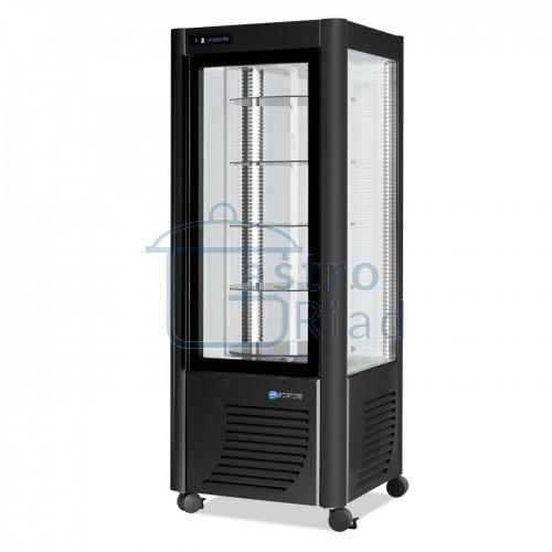 Zobraziť tovar: Vitrína chladiaca, otočné police, 400 l, ERG-400 čierna