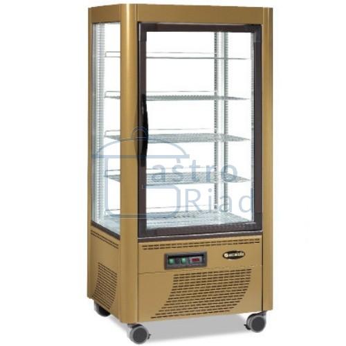 Zobraziť tovar: Vitrína chladiaca, roštové police, 540 l, ERF-540 zlatá