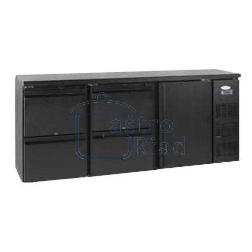 Zobraziť tovar: Stôl chladiaci barový, 4 x zás., 1 x dvere, antracit, CBC-340