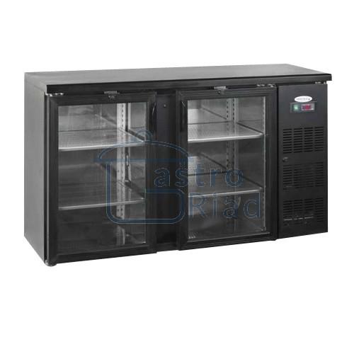 Zobraziť tovar: Stôl chladiaci barový, 2 x preskl. dvere, antracit, CBC-210G
