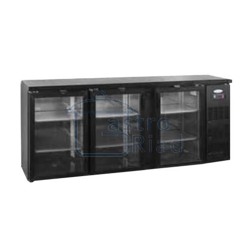 Zobraziť tovar: Stôl chladiaci barový, 3 x presklené dvere, antracit, CBC-310G