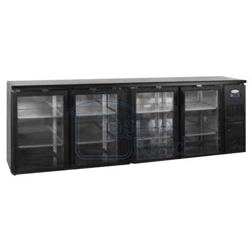 Zobraziť tovar: Stôl chladiaci barový, 4 x presklené dvere, antracit, CBC-410G