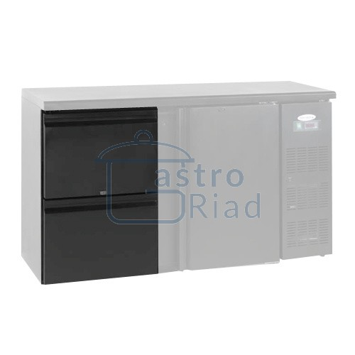 Zobraziť tovar: Zásuvkový set 2 x 1/2 k chladiacim barovým stolom, CBC-DRAW