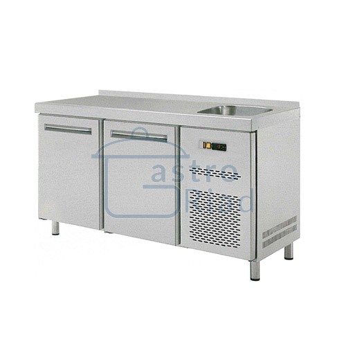 Stôl chladiaci s drezom, 2 x dvere
