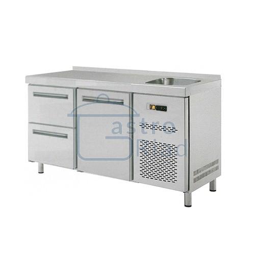 Zobraziť tovar: Stôl chladiaci s drezom, 1 x dvere, 2 x zásuvka, RT-2D-1D2Z-S