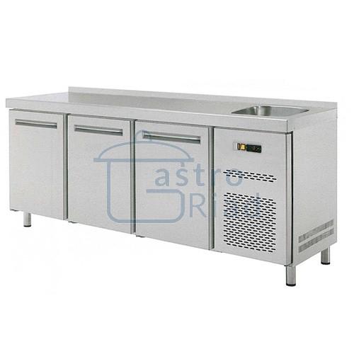 Zobraziť tovar: Stôl chladiaci s drezom, 3 x dvere, RT-3D-S