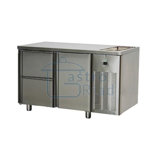Zobraziť tovar: Stôl chladiaci s drezom, 1 x dvere, 2 x zás., SCH-2D-1D2Z-Dr