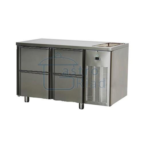 Zobraziť tovar: Stôl chladiaci s drezom, 4 x zás., SCH-2D-4ZDr