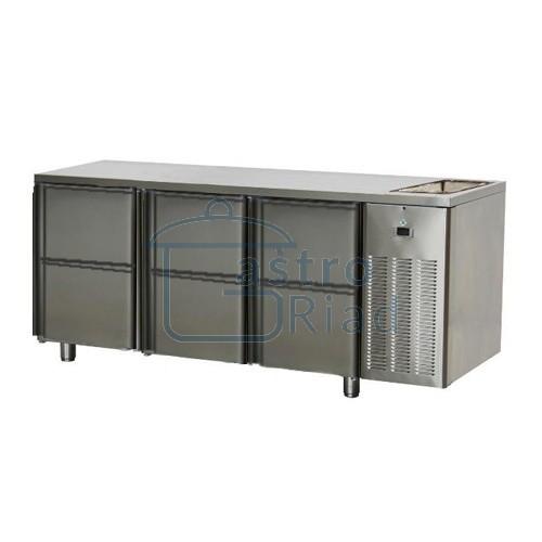 Zobraziť tovar: Stôl chladiaci s drezom, 6 x zás., SCH-3D-6ZDr