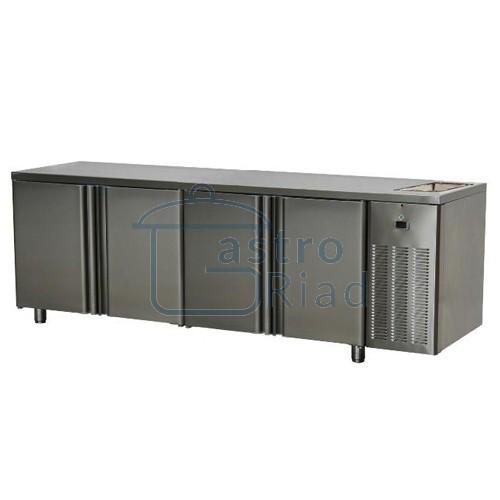 Zobraziť tovar: Stôl chladiaci s drezom, 4 x dvere, SCH-4D+Dr