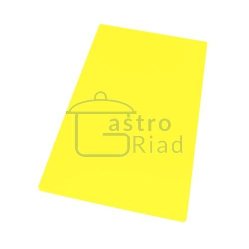 Doska plastová žltá 500x300