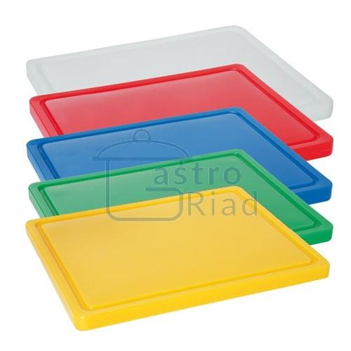 Zobraziť tovar: Doska plastová žltá 500x300 s drážkou