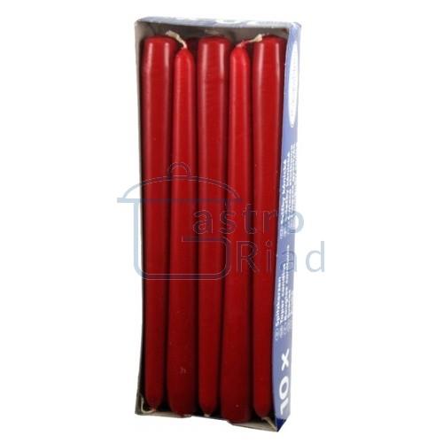 Sviečky červené - 10ks