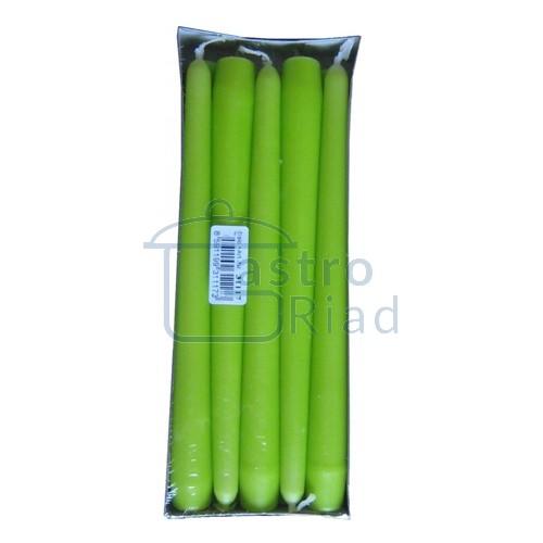 Sviečky žltozelené - 10ks