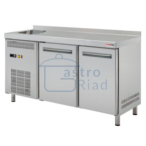 Zobraziť tovar: Stôl chladiaci s drezom, 2 x dvere, RT-2D-S-GI